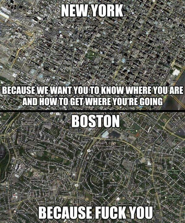 Boston Vs New York Map New York map vs Boston map by Welcome to the Inter| Favorite