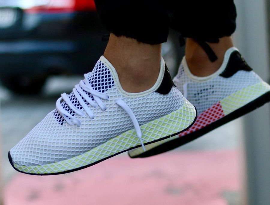 Review] Adidas Deerupt Runner Beige 'Chalk White' | Zapatos ...