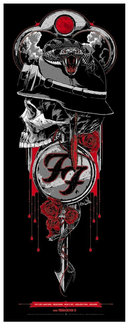 All About Art Tattoo Studio Rangiora Quality Work By Professional Artist Upstairs 5 Good Street Rangiora Foo Fighters Poster Cartaz De Show Posteres De Rock