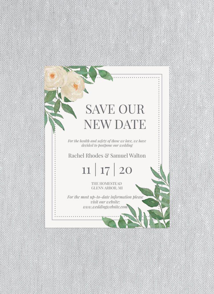 Free Wedding Date Change Download in 2020 Spring wedding