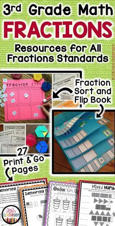 "3rd Grade Fractions • ""This is an amazing resource! Comprehensive, high quality, & a time saver!"""