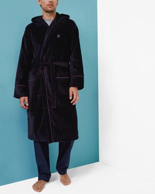 Cotton dressing gown - Navy | Nightwear & Loungewear | Ted Baker UK ...