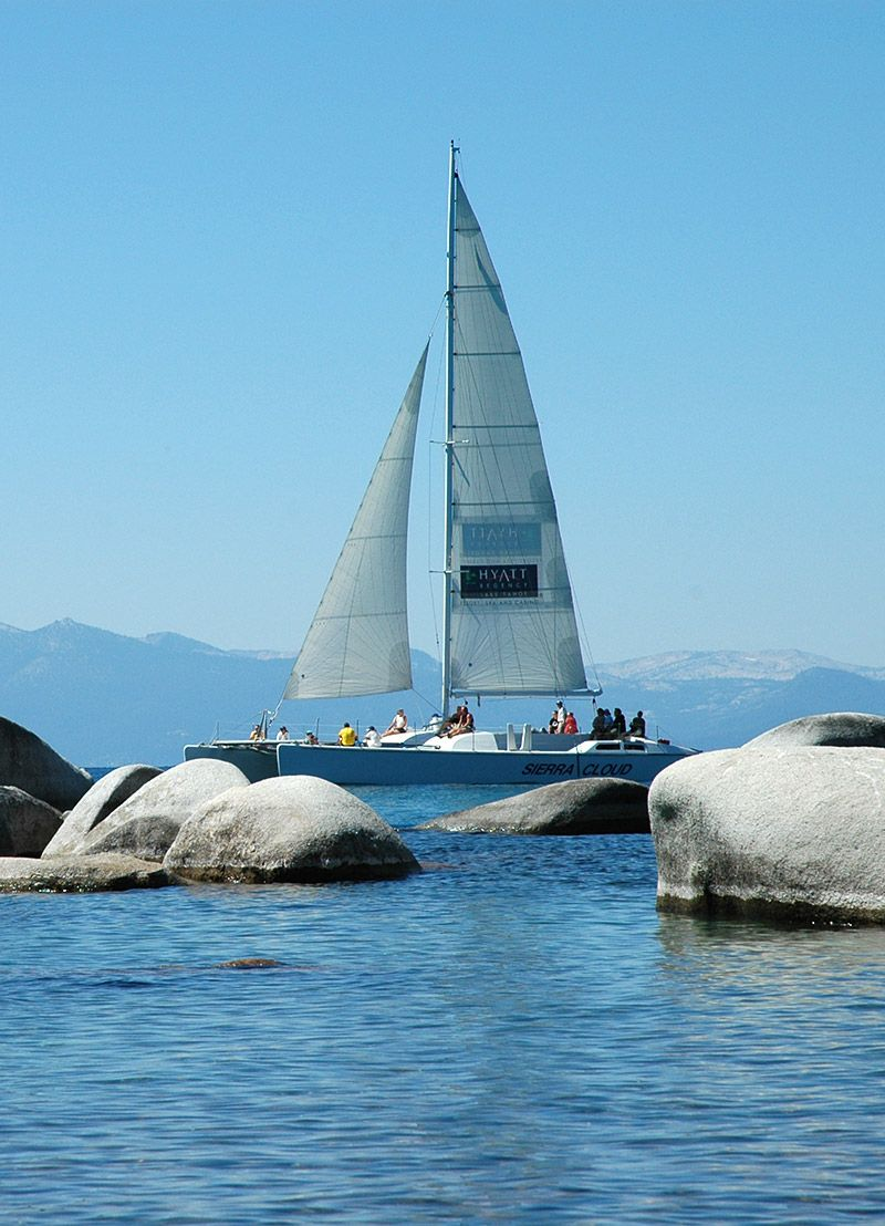 Lake tahoe sunset travel channel pinterest - Lake Tahoe Catamaran Cruises Hyatt Lake Tahoe Charter Sail Boat Make For A Great Lake