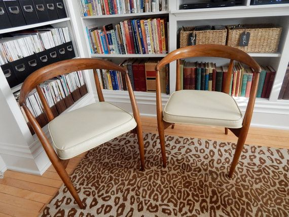 Simply Stunning Pair Of Teak Mid Century Modern Peabody Chairs Made By Richardson  Bros. Furniture