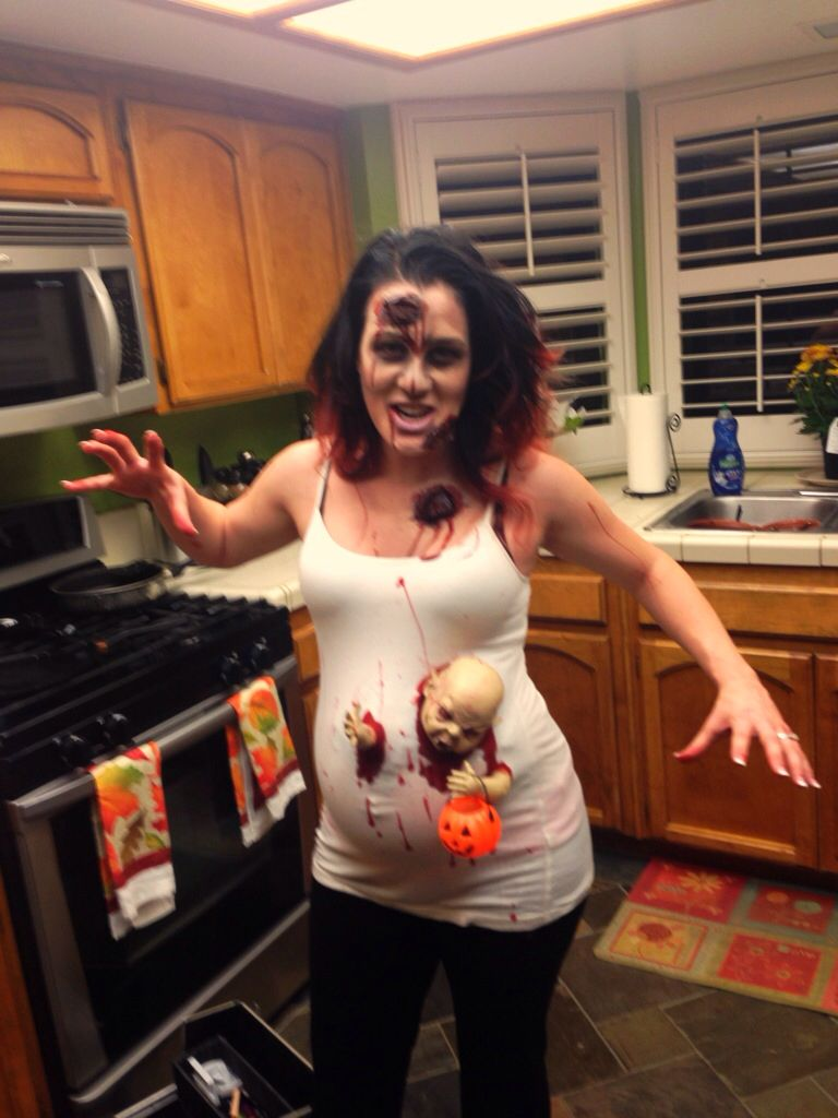 Pregnant Zombie Halloween Baby