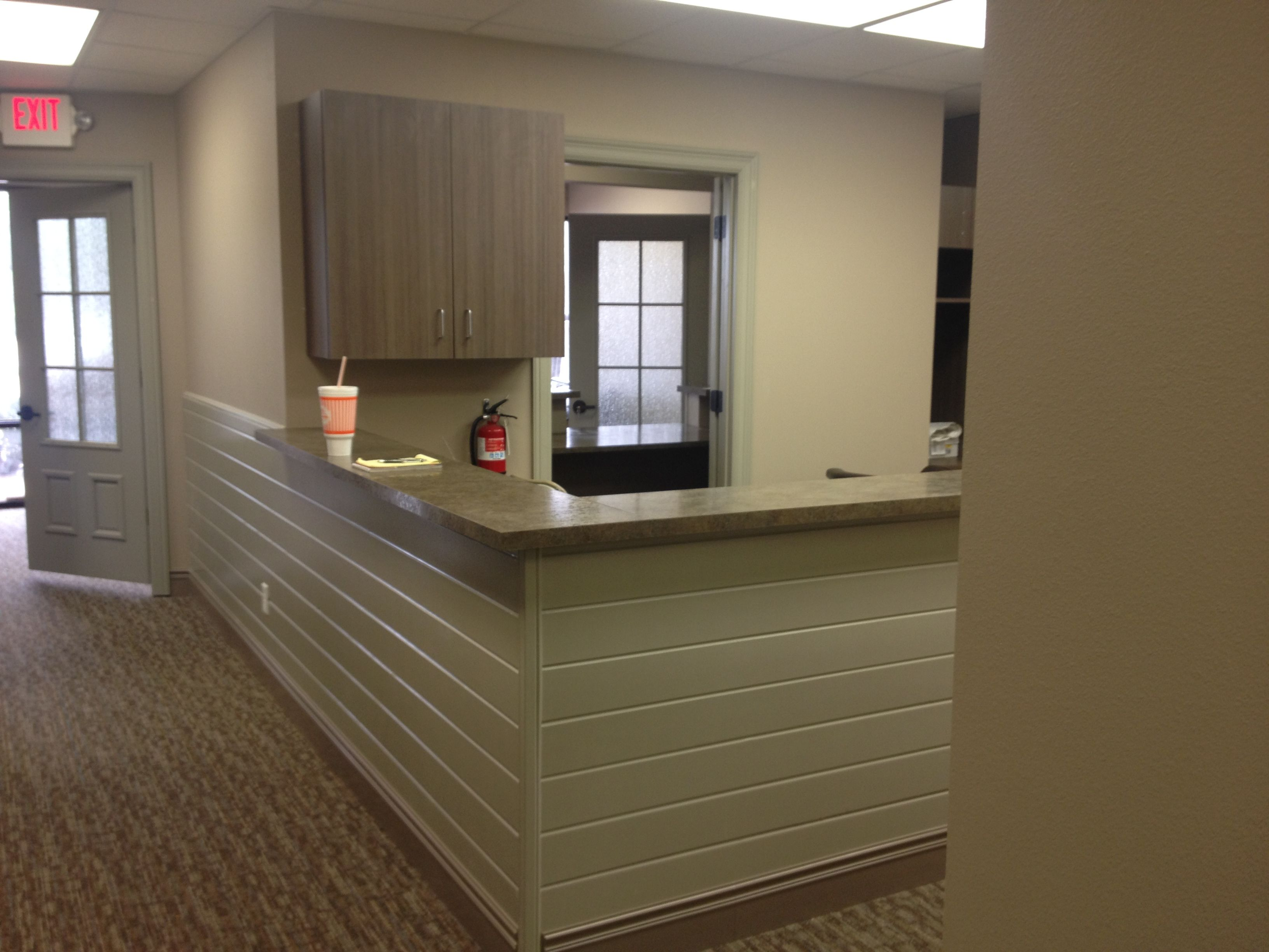 Cabinets, Doors, Wainscoting, And Counter Tops We Installed At Dental  Office In Midland