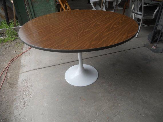 Mid Century Modern Herman Miller Dining Table Eero Saarinen Tulip - Herman miller tulip table