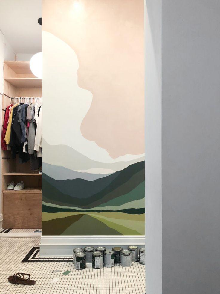 Bathroom Reveal + Paint By Numbers Wall Mural • Vintage Revivals