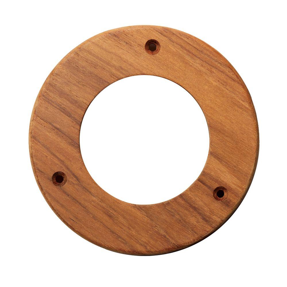 """Whitecap Teak Trim Ring - 4"""" Inner Diameter Opening - https://www.boatpartsforless.com/shop/whitecap-teak-trim-ring-4-inner-diameter-opening/"""