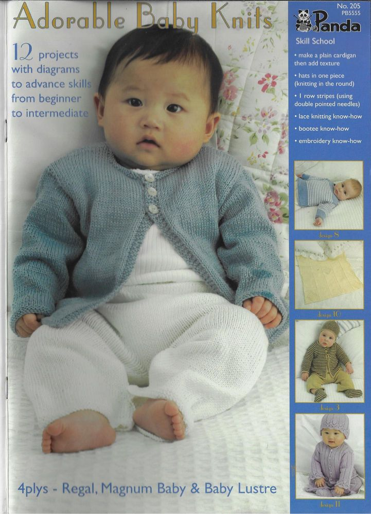 Adorable Baby Knits Panda 205 Knitting Pattern Book Babies Sets