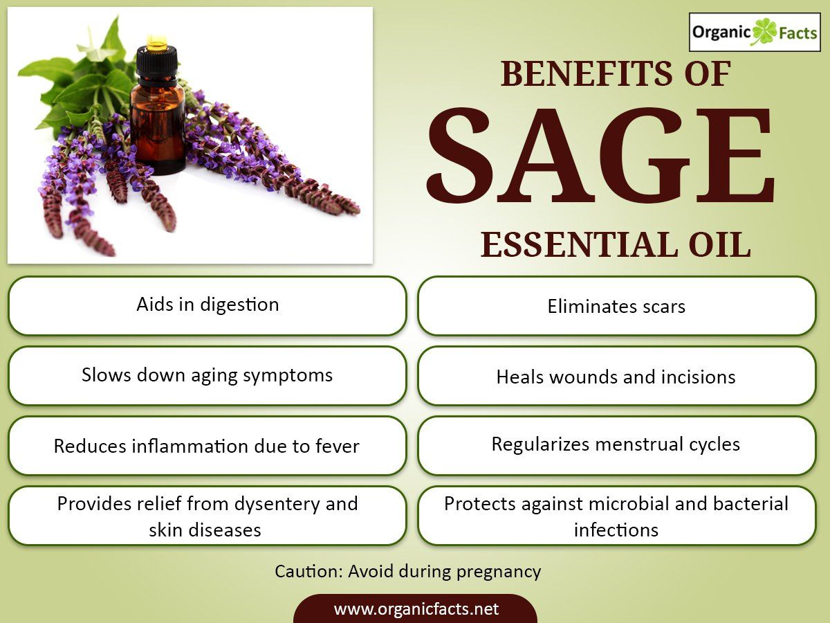 The Health Benefits Of Sage Essential Oil Can Be