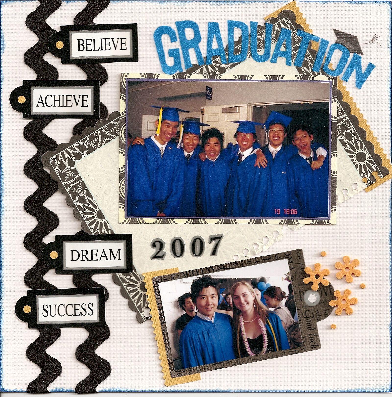Graduation scrapbook ideas pinterest - Hs Graduation 2007 Scrapbook Com