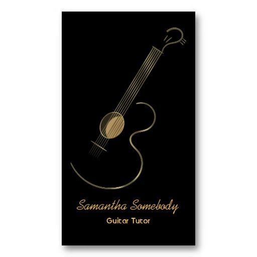 Acoustic Guitar Logo Business Card Template Zazzle Com Tarjetas Disenos De Tarjetas Tarjetas De Presentacion