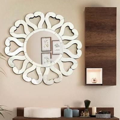 Fab Glass And Mirror 31 5 In X 31 5 In Di Amore Stylish Sunburst Wall Mirror Dining Room Wall Decor Frames On Wall Black Wall Mirror