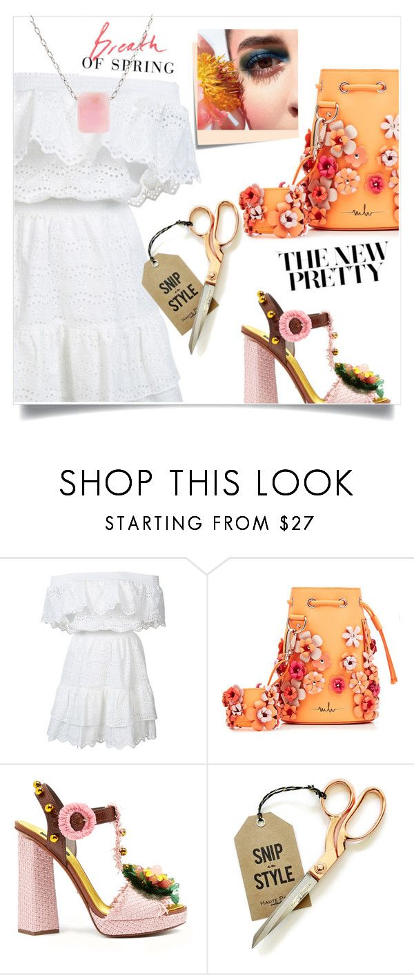 """""""Breath of Spring"""" by sabrina-0803 ❤ liked on Polyvore featuring LoveShackFancy, Marina Hoermanseder, Dolce&Gabbana, Post-It and Ten Thousand Things"""