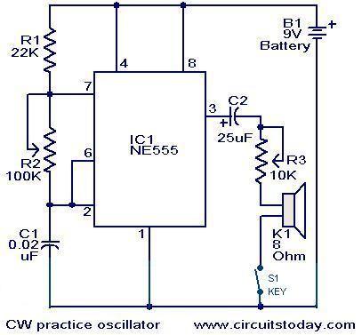cw practice oscillator circuit jpg diy projects pinterest rh pinterest com au