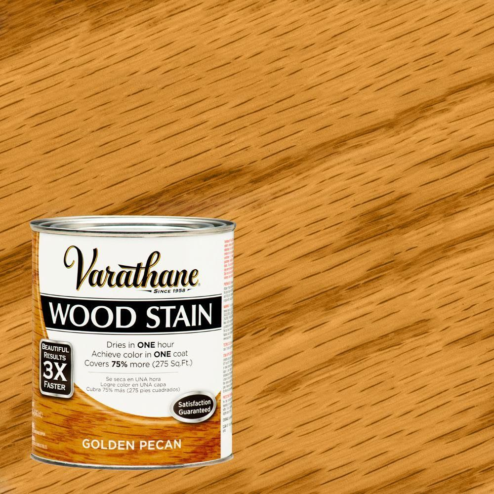 Varathane 1 Qt Golden Pecan Premium Fast Dry Interior Wood Stain 2 Pack 266260 The Home Depot Staining Wood Varathane Wood Stain Oak Stain