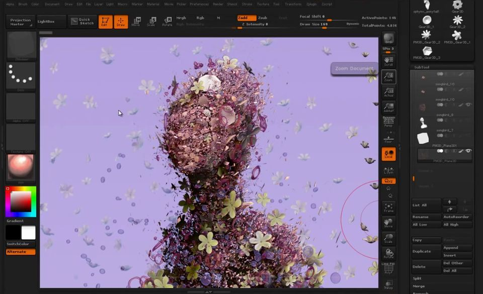 Nanomesh Feature In Zbrush 4r7 Zbrush Zbrush Tutorial Digital Artists