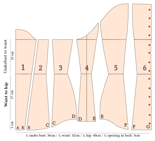 File:Underbust corset - clothing patterns.svg | Patterns | Pinterest ...