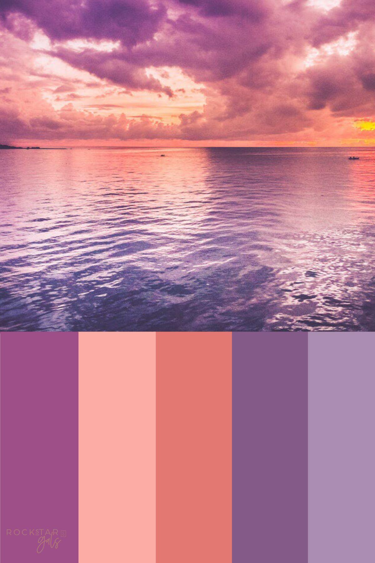 Color palette inspiration purple orange colors