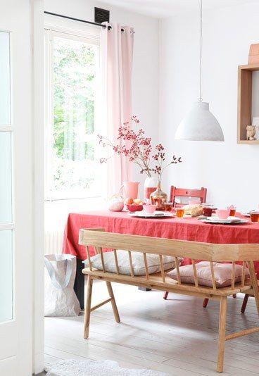 Decoración para la mesa en rosa