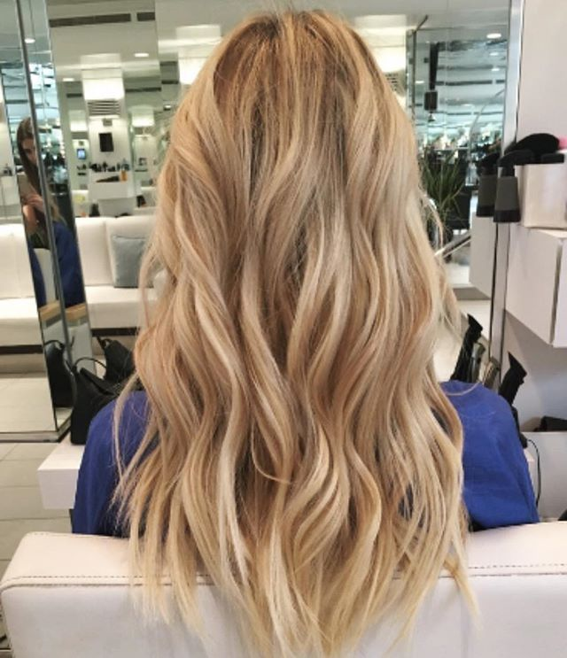 Blended Tape In Extensions Haircut And Beach Waves By Oak Street
