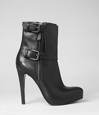 4605494ee11 AllSaints bootie. Would have to have inserts and a wide toe box. I like how  fierce it looks.