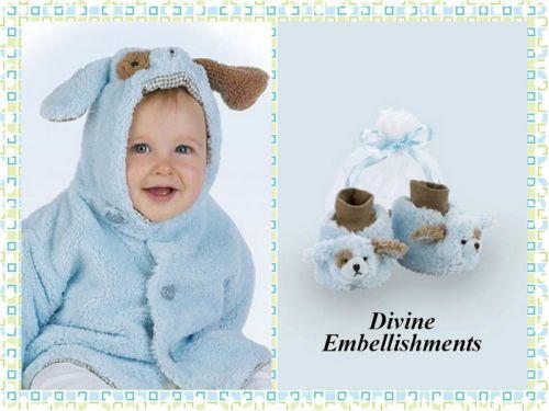 ed4a57d93e8a Bearington Baby Blue Waggles Puppy Dog Luxury Bundle Set NWT Coat ...