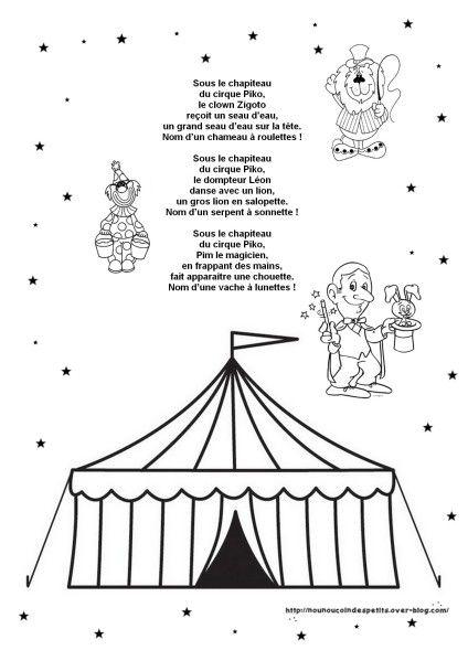 Coloriage Danseuse Cirque.Carnaval Comptine Illustre Sous Le Chapiteau Cirque Big