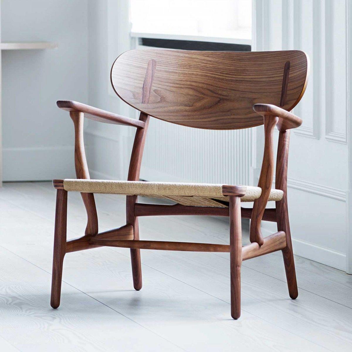 Ch22 Lounge Chair By Hans Wegner For Carl Hansen Son Furniture