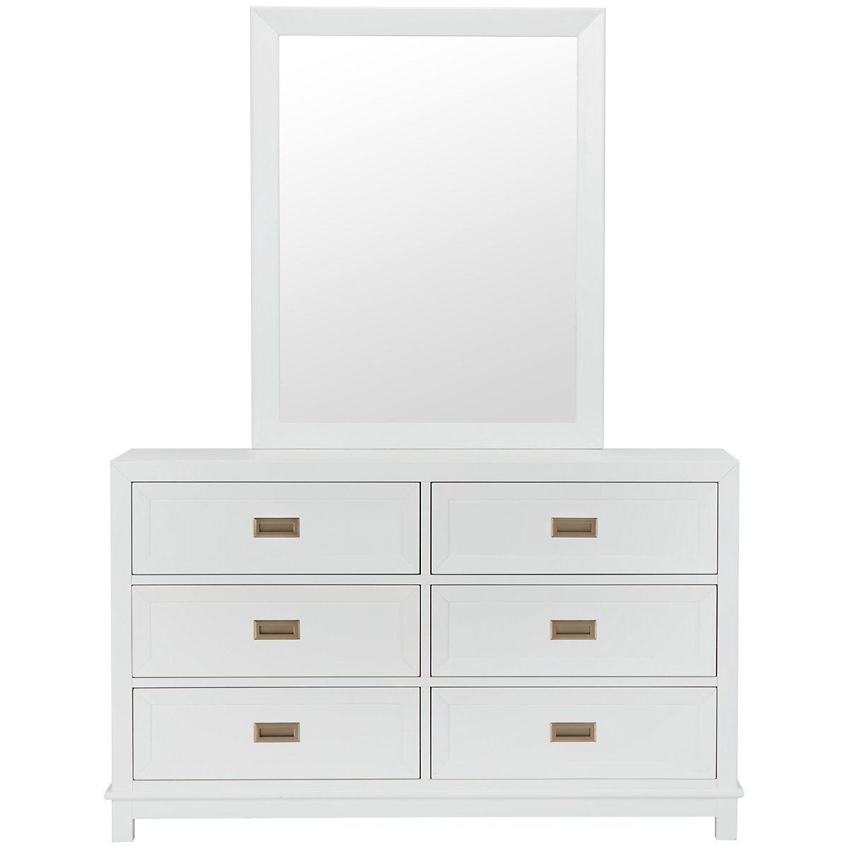 Best Ryder White Wood Dresser Mirror Dresser With Mirror 400 x 300