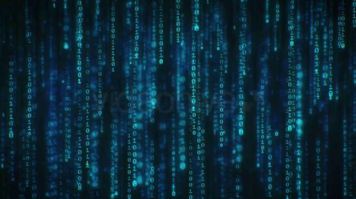 Binary Code 4k Long Loop Screensaver