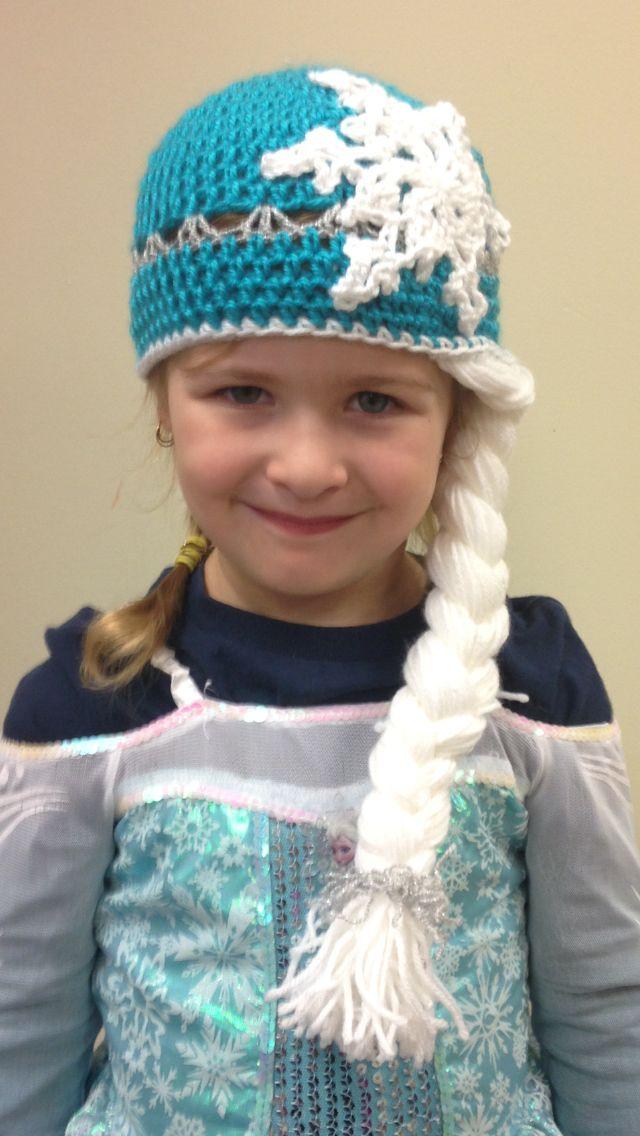 Elsa crochet hat.