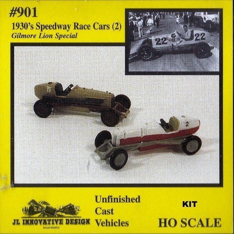 "Race Cars 1930s ""Gilmore Lion Special"" Pkg(2) HO Scale"