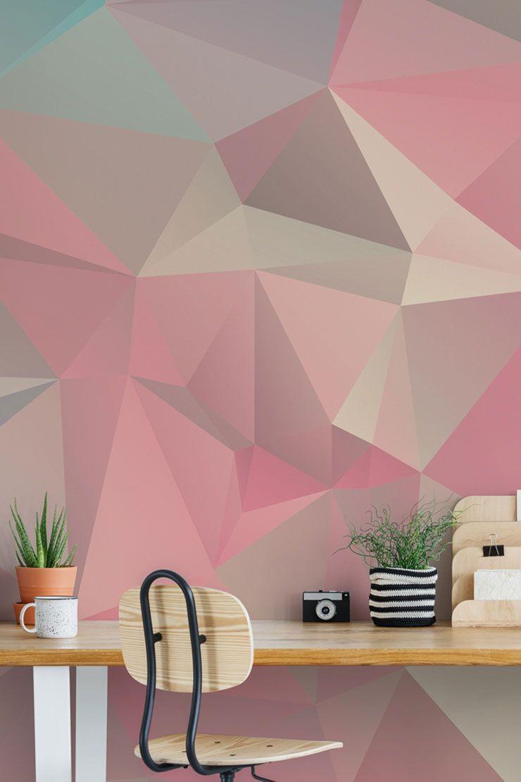 3 Tips On Styling Geometric Wallpaper Geometric wall