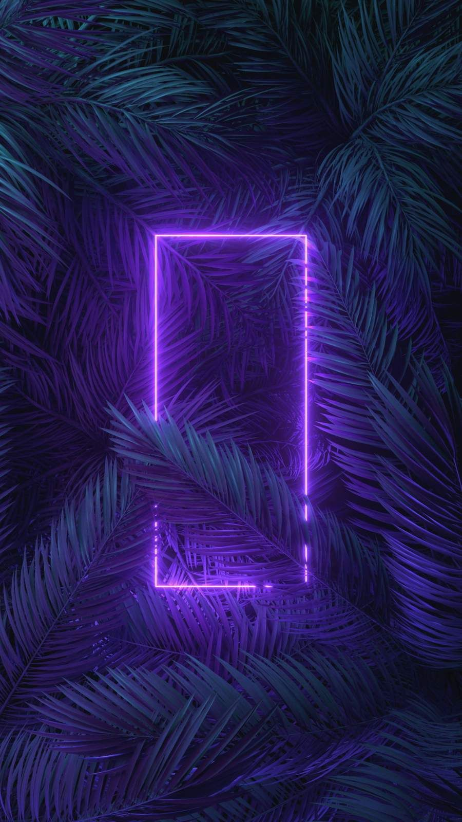Neon Light Trees iPhone Wallpaper - iPhone Wallpapers