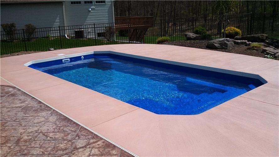 Malibu Style Fiberglass Inground Pool Luxury Pools And Living Fiberglass Pools Inground Fiberglass Pools Luxury Pools