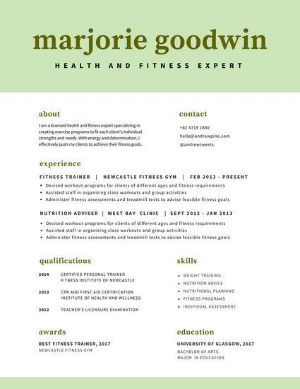 Mint Green Minimalist Resume Resume Pinterest Dream job - different resume templates