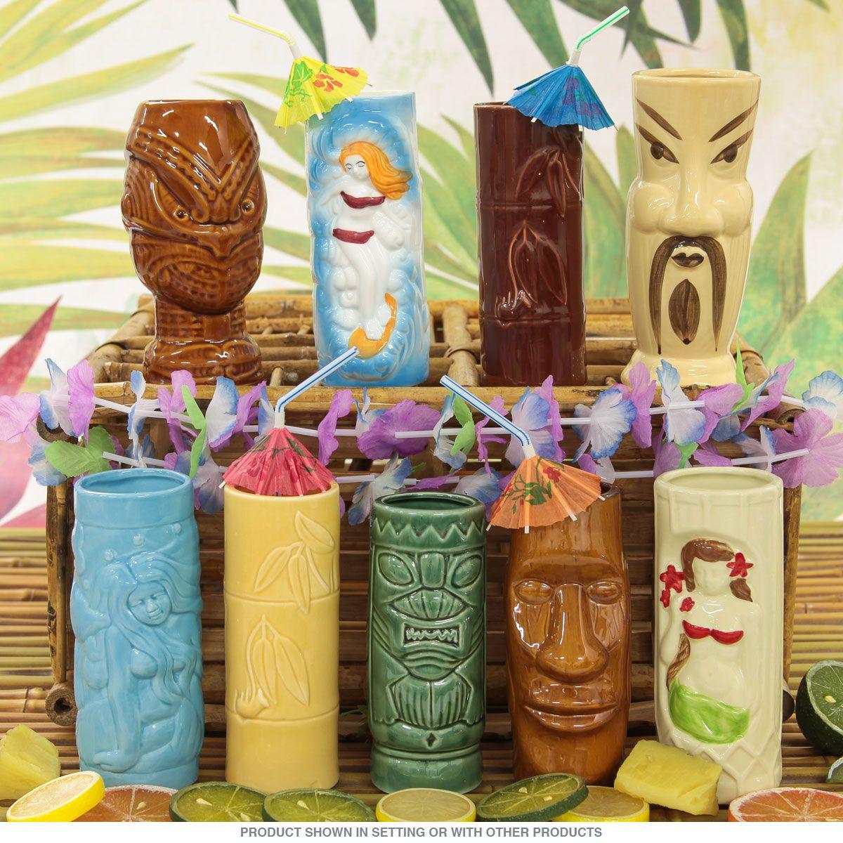 Instant Tiki Mug Collection Set Of 9 Restaurant Quality Tiki Decor Tiki Bar Decor Tiki Drinks