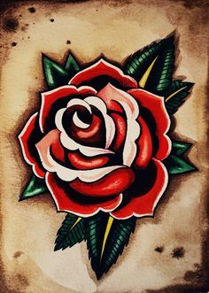american traditional tattoo roses - Google Search                                                                                                                                                                                 More
