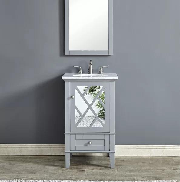 Andover Mills Caspian 21 Single Bathroom Vanity Set Wayfair Single Bathroom Vanity Bathroom Vanity Small Bathroom Sink Vanity