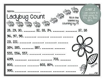 Math Masters: 2nd Grade Common Core Printables 2.NBT.2