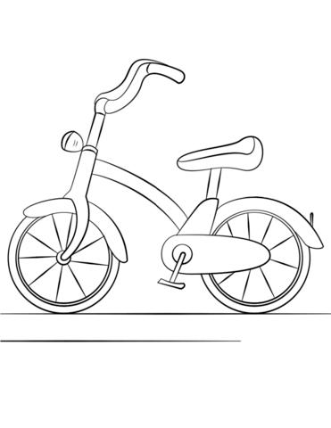 Bicycle Dibujo para colorear   SCRAPBOOKING BEBE   Pinterest ...