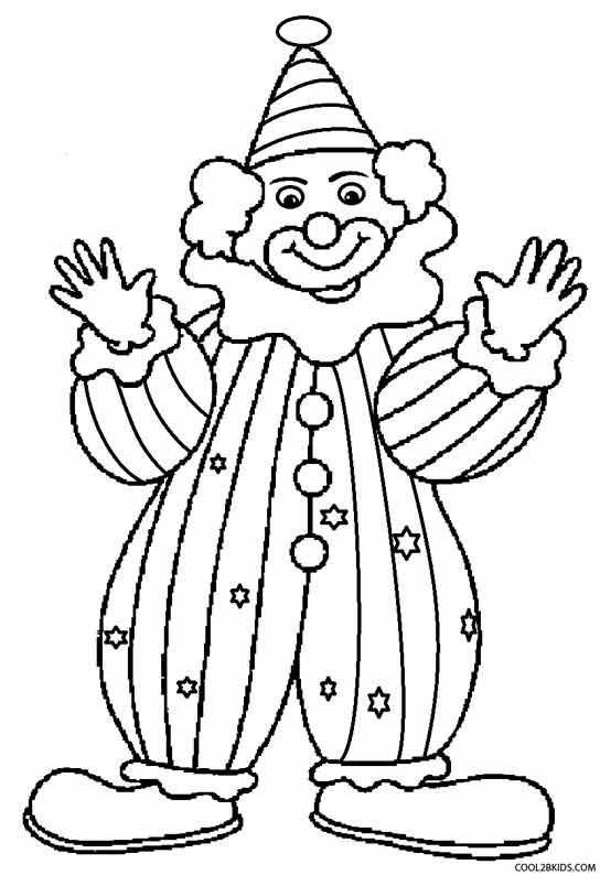 Clown Coloring Pages Coloring Pages For Kids Bear Coloring
