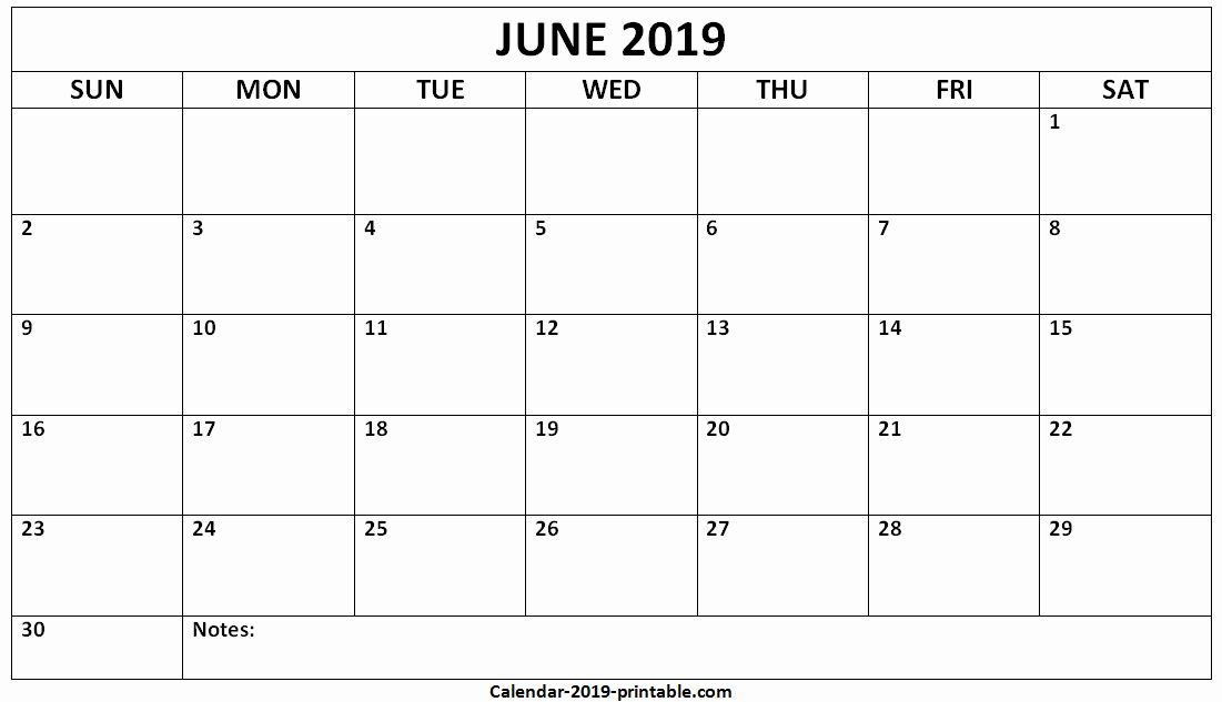 Blank May 2019 Printable Calendar Junecalendar2019 June