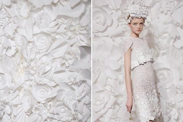 desfile chanel flores papel - Pesquisa Google