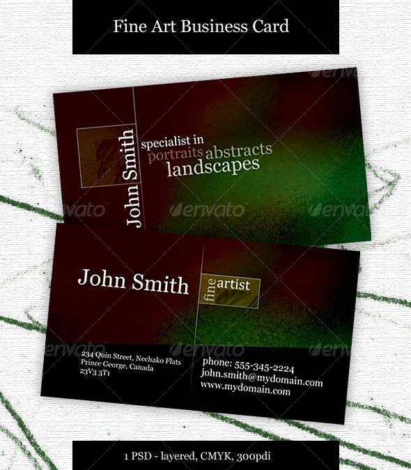 Fine Artist Business Card Artist Business Cards Art Business Cards Artist Business Cards Design