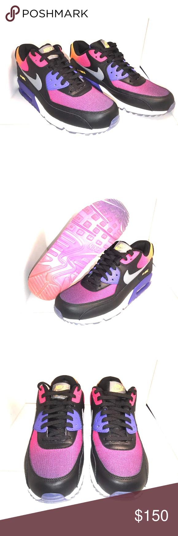 meet 857d1 fcfdd NIKE AIR MAX 90 SD SUNSET BLACKCOOL GREY-VOLT 🔥 New no box Nike Shoes  Sneakers