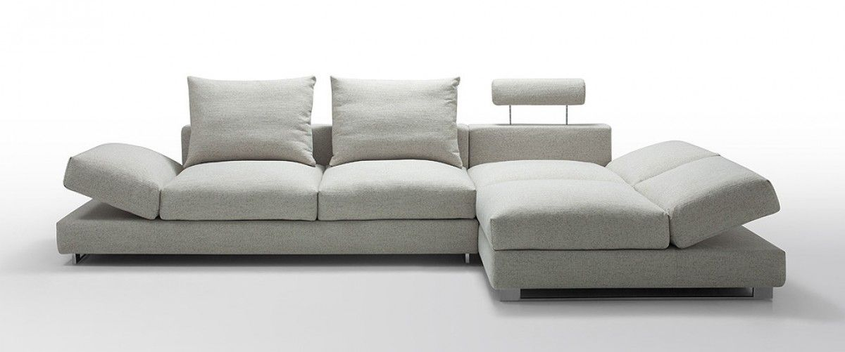 Awesome Divani Casa Vasto   Modern Fabric Sectional Sofa With Down Feather  Cushioning