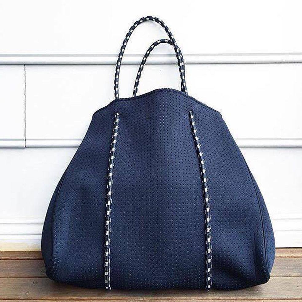 Neoprene Mommy Diaper Bag Navy